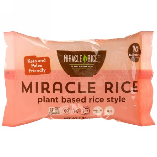 Miracle Noodle, ミラクルライス、8 oz (227 g)