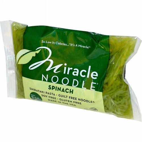 Miracle Noodle, ほうれん草としらたきのパスタ、7オンス (198 g)