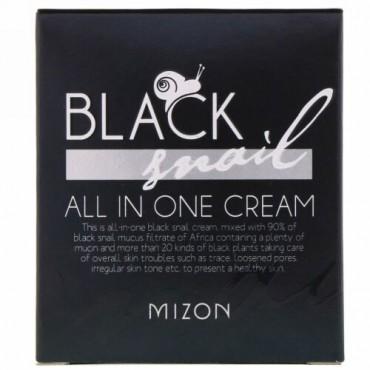Mizon, ブラックスネイル, 全てが1つに入ったクリーム, 75 ml (Discontinued Item)