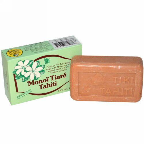 Monoi Tiare Tahiti, ココナツオイルソープ、ココナツの香り、4.55 oz (130 g) (Discontinued Item)