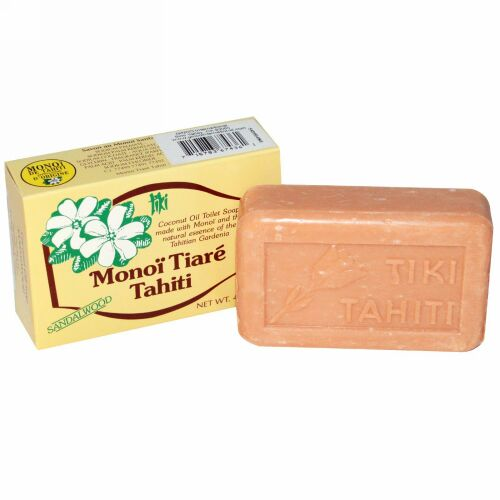 Monoi Tiare Tahiti, ココナツオイルソープ、サンダルウッドの香り、4.55 oz (130 g) (Discontinued Item)