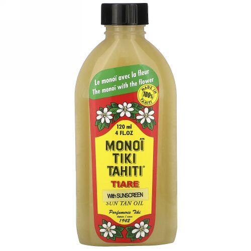 Monoi Tiare Tahiti, 日焼け止めサンタンオイル4 fl oz (120 ml)