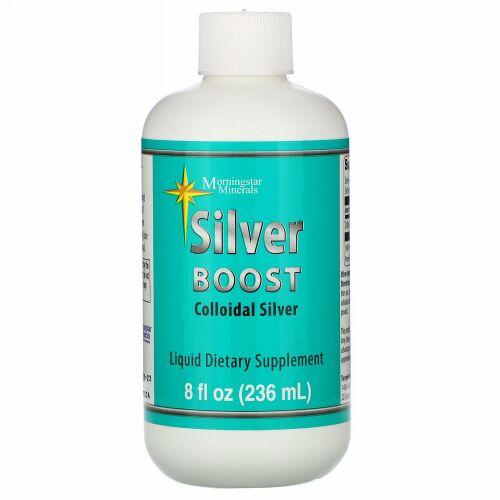 Morningstar Minerals, Silver Boost, Colloidal Silver Liquid, 8 fl oz (236 ml)