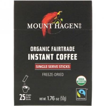 Mount Hagen, オーガニックフェアトレード・インスタントコーヒー、25袋、1.76 oz (50 g)