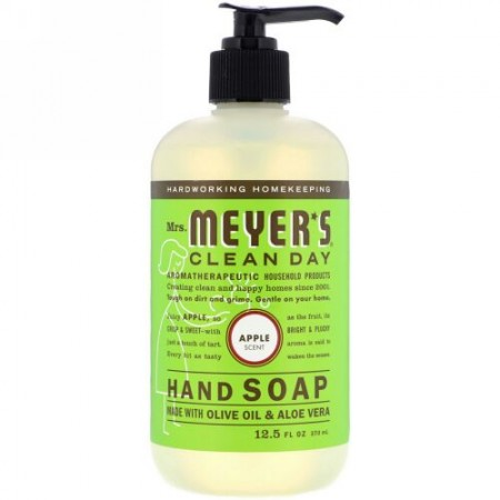 Mrs. Meyers Clean Day, Hand Soap, Apple Scent, 12.5 fl oz (370 ml) (Discontinued Item)