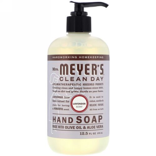 Mrs. Meyers Clean Day, Hand Soap, Lavender Scent, 12.5 fl oz (370 ml)