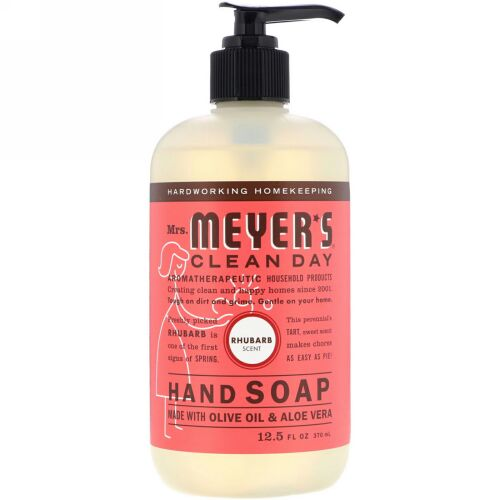 Mrs. Meyers Clean Day, Hand Soap, Rhubarb Scent, 12.5 fl oz (370 ml) (Discontinued Item)