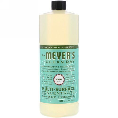 Mrs. Meyers Clean Day, Multi-Surface Concentrated Cleaner, Basil, 32 fl. oz. (Discontinued Item)