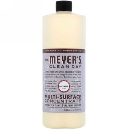 Mrs. Meyers Clean Day, マルチサーフェス 濃縮液、ラベンダー の香り、32 fl oz (946 ml) (Discontinued Item)