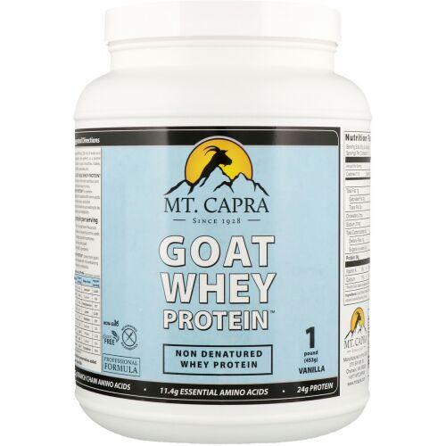 Mt. Capra, ヤギホエイタンパク質、バニラ、1ポンド (453 g)