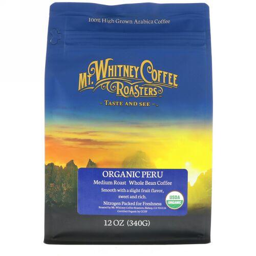 Mt. Whitney Coffee Roasters, オーガニックペルー(Organic Peru), 挽いていないミディアムローストコーヒー, 12オンス(340 g)