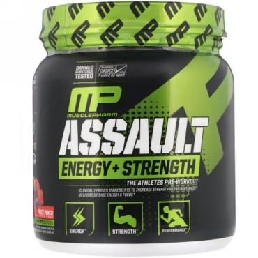 MusclePharm, Assault Energy + Strength, Pre-Workout, Fruit Punch, 12.17 oz (345 g)