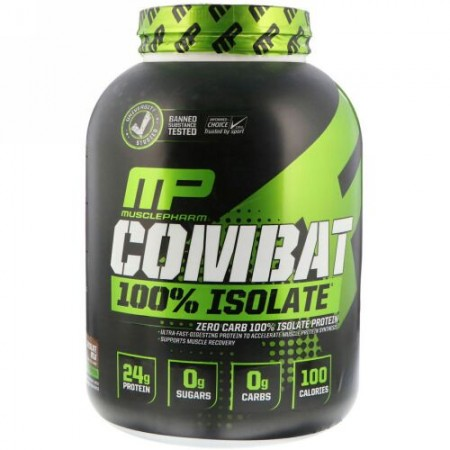 MusclePharm, コンバット100%アイソレート、チョコレートミルク、5 lb (2268 g)