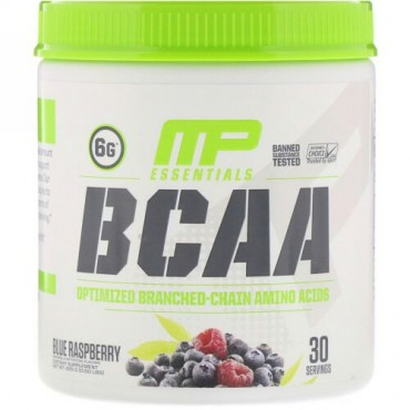 MusclePharm, Essentials(エッセンシャルズ)、BCAA、ブルーラズベリー、225g(0.50ポンド)