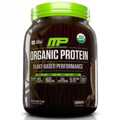 MusclePharm Natural, オーガニックプロテイン、植物ベースのパフォーマンス、チョコレート、2.7ポンド (1.22 kg) (Discontinued Item)