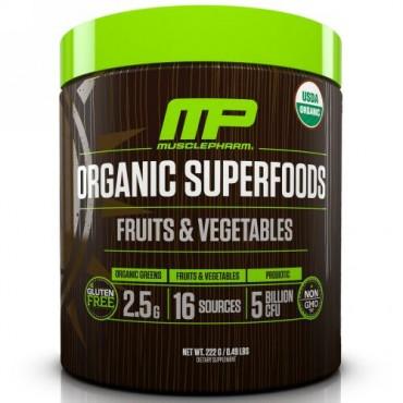MusclePharm Natural, オーガニックスーパーフード、フルーツ&野菜、0.49 lbs (222 g) (Discontinued Item)