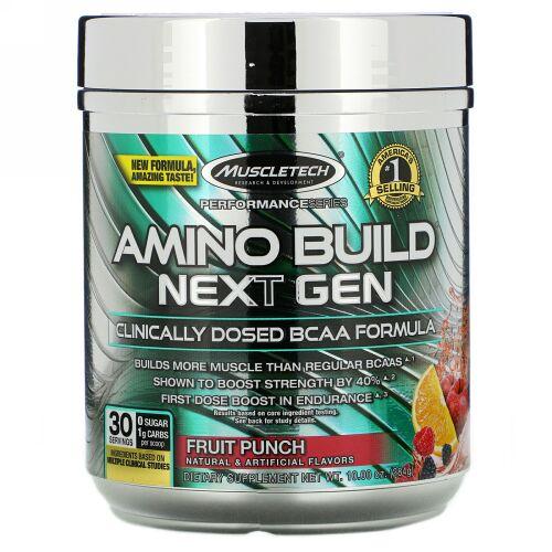Muscletech, Amino Build(アミノビルド)ネクストジェン、フルーツパンチ、284g(10オンス)
