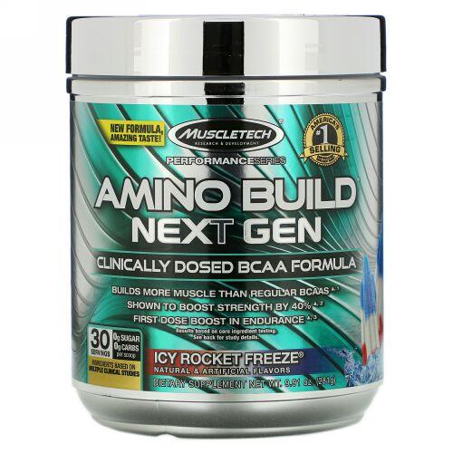 Muscletech, Amino Build(アミノビルド)ネクストジェン、アイシーロケットフリーズ、276g(9.73オンス)