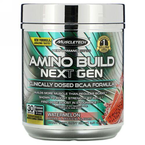 Muscletech, Amino Build(アミノビルド)ネクストジェン、ウォーターメロン、281g(9.91オンス)