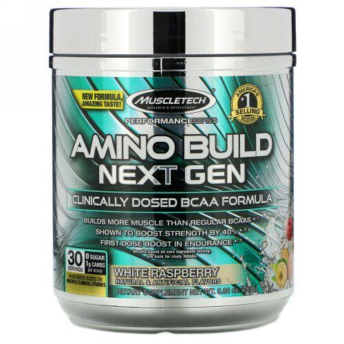 Muscletech, Amino Build(アミノビルド)ネクストジェン、ホワイトラズベリー、283g(9.98オンス)