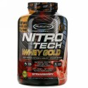 Muscletech, Nitro Tech(ニトロテック)、100%ホエイゴールド、ストロベリー、2.51kg(5.53ポンド)