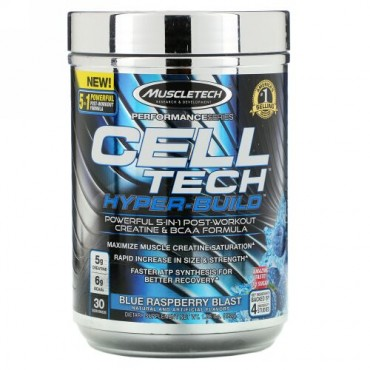 Muscletech, Performance Series, CELL-TECH HYPER-BUILD, Blue Raspberry Blast, 1.06 lbs (482 g)