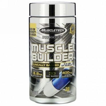 Muscletech, プロシリーズ、Muscle Builder(マッスルビルダー)、速放性カプセル30粒