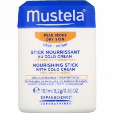 Mustela, ベビー、ナリッシング スティック、コールドクリーム配合、乾燥肌用、0.32 fl (10.1 ml)