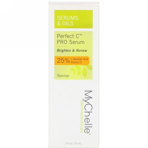MyChelle Dermaceuticals, パーフェクト C PRO セラム、ノーマル、0.5液量オンス (15 ml) (Discontinued Item)
