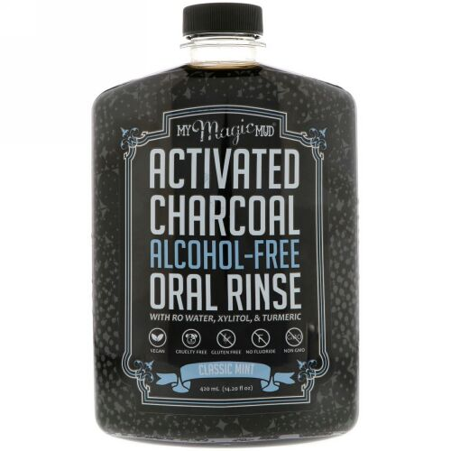 My Magic Mud, Activated Charcoal, Alcohol-Free Oral Rinse, Classic Mint, 14.20 fl oz (420 ml)