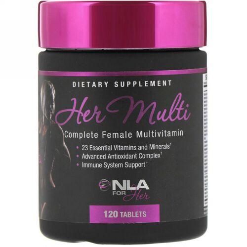 NLA for Her, Her Multi、完全な女性用マルチビタミン、120錠 (Discontinued Item)