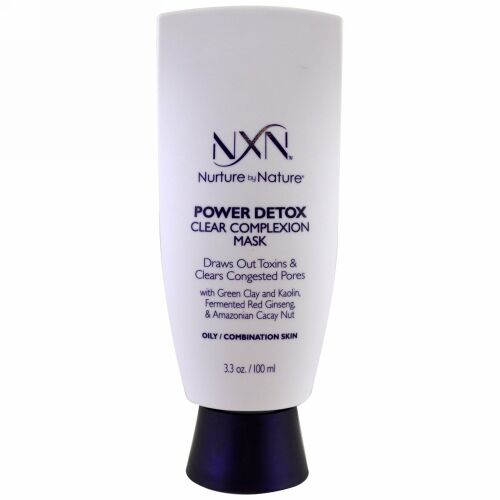 NXN, Nurture by Nature, Power Detox Clear Complexion Mask, Oily / Combination Skin, 3.3 oz (100 ml0 (Discontinued Item)