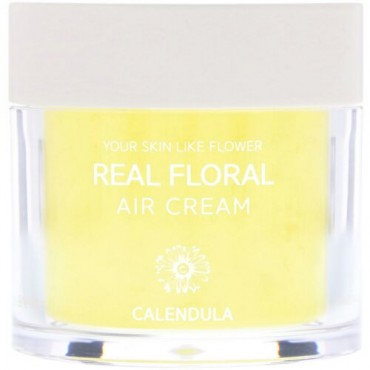 Nacific, Real Floral Cream, Calendula, 3.38 fl oz (100 ml) (Discontinued Item)