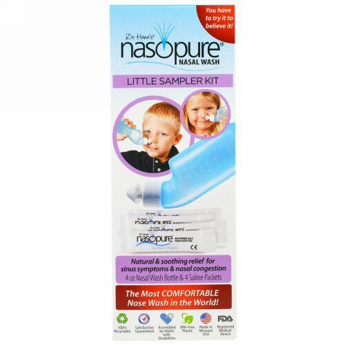 Nasopure, Nasopure Little Sampler Kit, 4 oz bottle, 4 buffered salt packets, instructions (Discontinued Item)