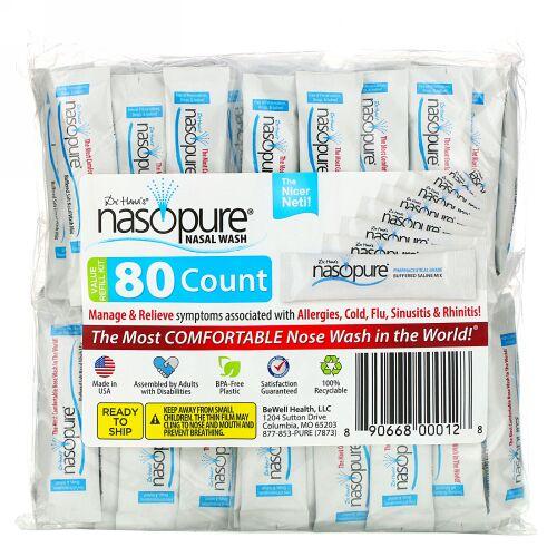 Nasopure, Nasal Wash, Value Refill Kit, 80 Count