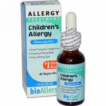 NatraBio, バイオアラーズ(bioAllers)、子ども用アレルギー、 アレルギートリートメント、1 fl oz (30 ml)