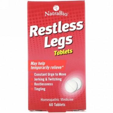 NatraBio, レストレスレッグス、60 錠