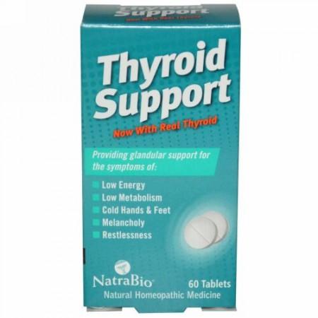 NatraBio, 甲状腺サポート, 60 錠