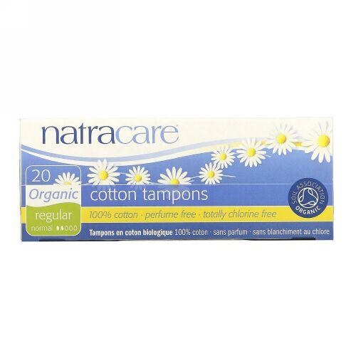 Natracare, オーガニック・コットンタンポン、レギュラー、20 個入