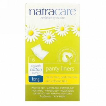 Natracare, オーガニック&ナチュラル パンティーライナー、ロング、16個入