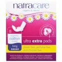 Natracare, オーガニック&ナチュラル ウルトラパッド、ロング、8個入
