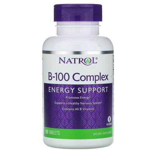 Natrol, B-100 コンプレックス, 100錠 (Discontinued Item)