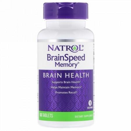 Natrol, BrainSpeedメモリ、60錠 (Discontinued Item)