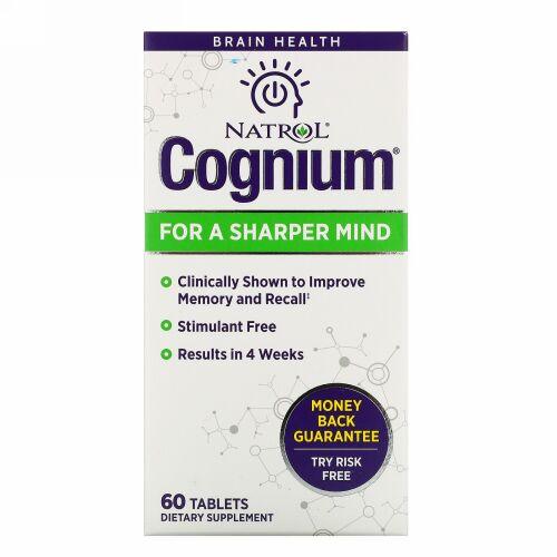 Natrol, Cognium(コグニウム)、60錠
