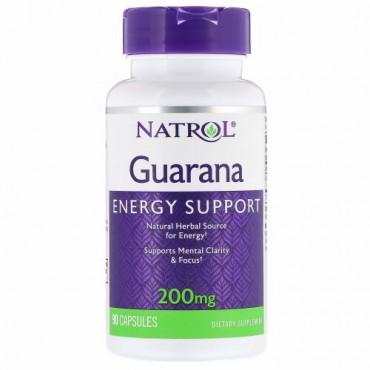 Natrol, ガラナ, 200 mg, 90 カプセル