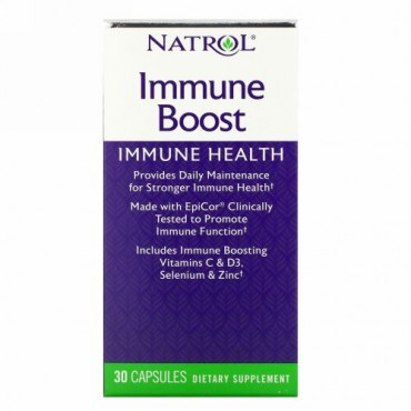 Natrol, イミューンブースト(免疫活性剤)、エピコール(EpiCor)配合、即効性 30 錠