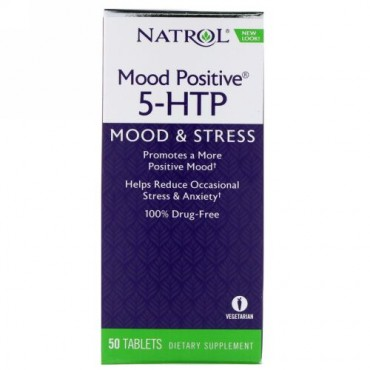 Natrol, ムード ポジティブ 5-HTP、50錠