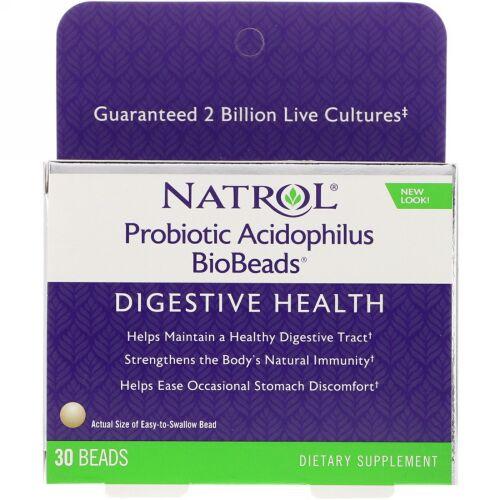 Natrol, プロバイオティック乳酸菌バイオビーズ, 30 ビーズ (Discontinued Item)