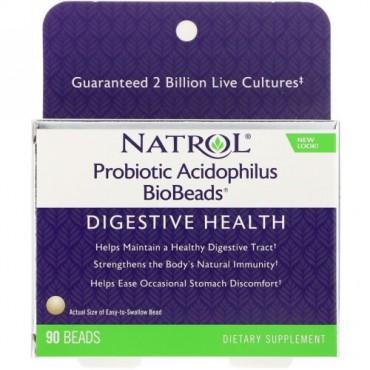 Natrol, 生菌乳酸菌バイオビーズ, 90玉 (Discontinued Item)