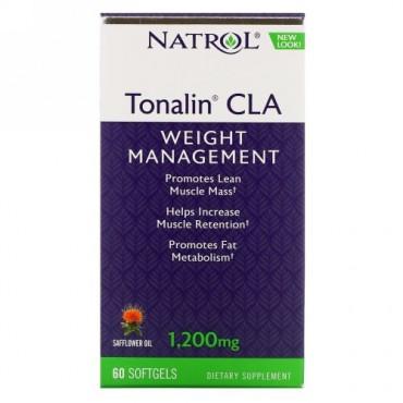 Natrol, トナリンCLA、1,200 mg、ソフトジェル60粒